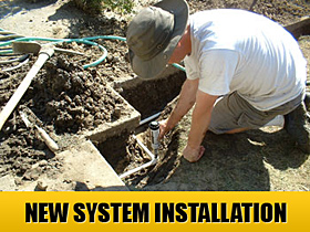 new system installation is a Wylie Sprinkler Repair specialty